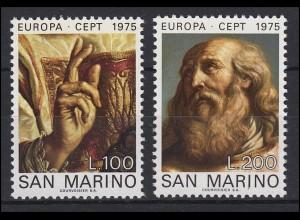 San Marino: EUROPA / CEPT Gemälde Paintings 1975, Satz **