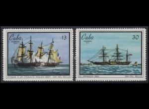 Tag der Briefmarke Gemälde Paintings Segelschiffe 1971, 2 Werte **