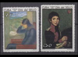 Tag der Briefmarke Gemälde Paintings Der Brief The Letter 1970, 2 Werte **