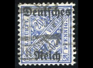 60Y Dienstmarke 20 Pf. - mit WZ. Ringe, gestempelt, tiefst geprüft Winkler BPP