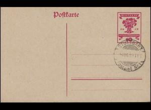 P 115 Nationalversammlung mit Blanko-Stempel STUTTGART POSTAMT Nr. 1 - 6.8.1911