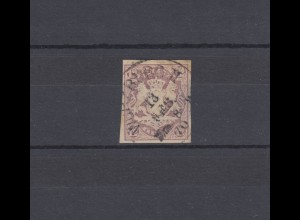 Bayern 18 Wappen 12 Kreuzer - Einkreisstempel WÜRZBURG II -13.2.1870 BPP-geprüft