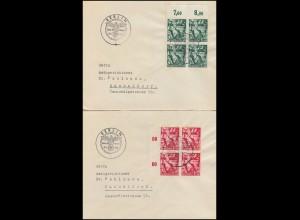 660-661 Machtergreifung: 3 Brief-Paare mit SSt LEIPZIG, NÜRNBERG, BERLIN 30.1.38