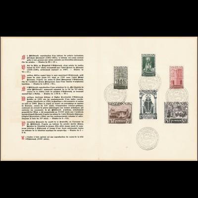 Luxemburg 309-314 Hl. Willibrord 1938, Satz im FOLDER mit ESSt ECHTERNACH (FDC)