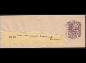 Dienst Ziffern 10 M. und 3x 50 Mark Zustellurkunde Finanzamt DÜSSELDORF 23.3.23