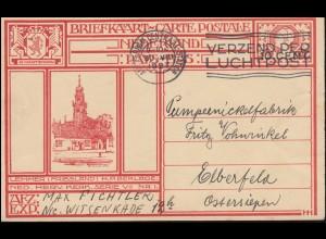 Niederlande Bildpostkarte P 175 Lemmer/Friesland AMSTERDAM-CENRAAL-ST. 30.8.1927