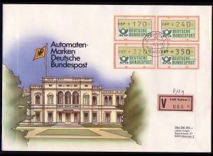1.1. ATM-Ergänzungswerte 170/240/320/350 Pf auf Wert-FDC KOBLENZ 1.4.1989