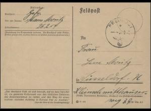 Feldpost-Karte PF 26214 am 4.2.1942