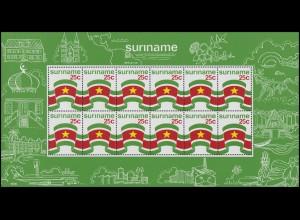 Suriname 715-716 Kleinbogen-Satz Staatsflagge & Staatswappen 1976, KB-Satz **