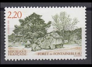 Frankreich: Wald von Fontainebleau 1989, 1 Marke postfrisch **