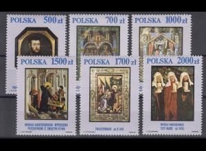 Polen: Gemälde Chrsitliche Motive 1990, 6 Werte, Satz **
