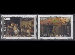 Jugoslawien: EUROPA / CEPT Nationale Feste Gemälde & Paintings 1998, Satz **