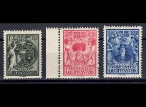 116-118 Jugendfürsorge 1932, Satz komplett 116 ** und 117-118 kleiner Falzrest *
