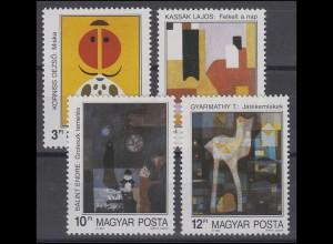 Ungarn: Moderne Kunst 1989 & Gemälde, 4 Werte, Satz **