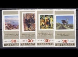 Bulgarien: Alte und Neue Gemälde 1988, 4 Werte, Satz **