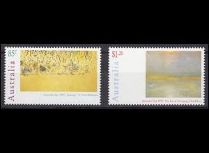 Australien: Williams, Rees Gemälde Australia Day 1997, 2 Werte postfrisch **