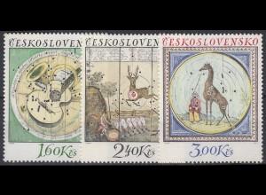 Tschechoslowakei: Schießscheiben Ziele Wild Jagd 1974, 3 Werte postfrisch **