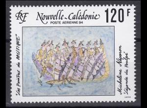 Neukaledonien: Gemälde von Neperon Legende vom Oktopus 1994, postfrisch **