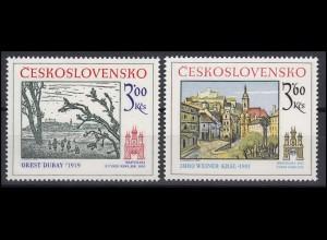 Tschechoslowakei: Dubay, Weiner-Kral Gemälde Bratislava 1978, 2 Werte **