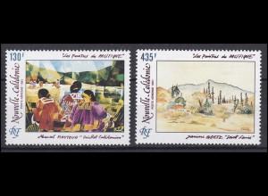 Neukaledonien: Maler des Pazifiks - Moutouh und Goetz 1991, 2 Werte **