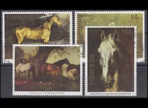 Tschad: Gemälde / Paintings Pferde Stuten Fohlen / Horses Mares Foals, Satz O