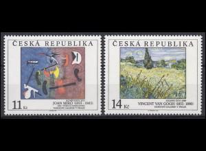 Tschechische Republik: Nationalgalerie Prag - Gemälde 1993, 2 Werte, Satz **