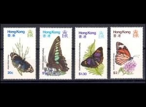 Hongkong 353-356 Schmetterlinge, Satz ** postfrisch / MNH