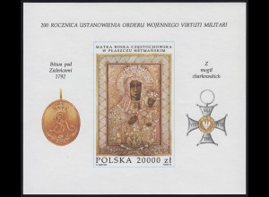 Polen: 200. Jahrestag des Militärordens & Ikone 1972, Block **