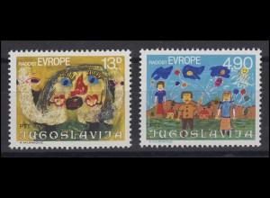 Jugoslawien: Europa - Kinderzeichnungen Gemälde & Paintings 1980, Satz **