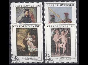 Tschechoslowakei: Gemälde aus Galerien 1986, 4 Werte, Satz O