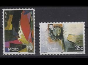 Malta: EUROPA / CEPT Gemälde & Paintings Zeitgenössische Kunst 1993, Satz **