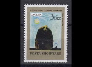 Albanien: Agim Zajmi Gemälde 1993, 1 Marke postfrisch **