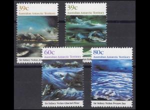 Australien: Sir Sidney Nolan Gemälde Antarktis, 4 Werte postfrisch **