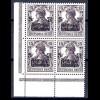 106c Germania 15 Pf. Eckrand-Vbl. u.l. ** alle 4 Werte geprüft OECHSNER BPP