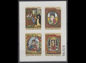 Ungarn: Tag der Briefmarke 1979 & Corvinak Das Buch, Kleinbogen GESCHNITTEN **