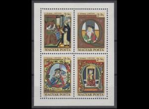 Ungarn: Tag der Briefmarke 1970 & Corvinak Das Buch, Kleinbogen gezähnt **