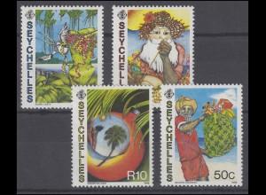 Seychellen: Leste, Mc Gaw, Anacoura, Hoareau Gemälde 1988, 4 Werte postfrisch **