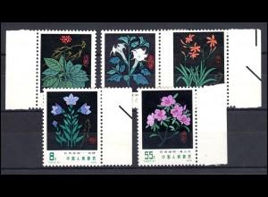 China 1445-1449 Heilpflanzen, Satz ** postfrisch / MNH