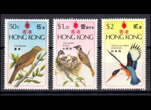Hongkong 313-315 Vögel, Satz ** postfrisch / MNH