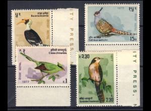 Nepal 346-349 Vögel, Satz ** postfrisch / MNH