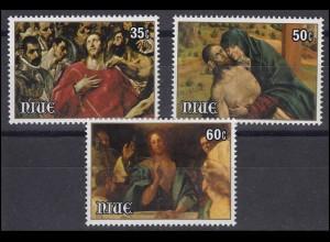 Niue: Easter & Ostern 1981 Gemälde Auferstehung Christus, 3 Werte postfrisch **