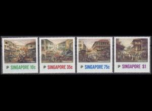 Singapore Gemälde Straßenbilder / Paintings of Chinatown 1989, Satz **