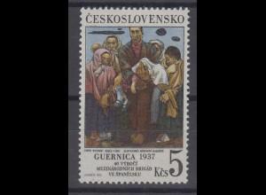 Tschechoslowakei: Luftangriff auf Gernika 1976, 1 Marke postfrisch **