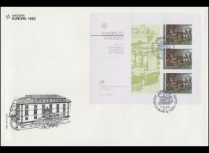 Portugal Madeira EUROPA / CEPT 1982 Historische Ereignisse, Block - FDC