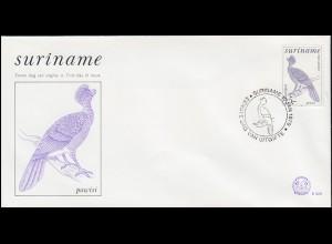 Surinam Vogel Powisi - Das Hokkohuhn auf Schmuck-FDC von 1979
