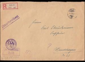 Südafrika Block 1 und 2 Ausstellung JIPEX 1936 auf R-Brief JOHANNESBURG 3.11.36