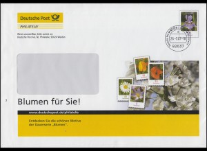 Plusbrief F209 Schwertlilie Motiv Dauerserie Blumen für Sie! WEIDEN 26.3.2007