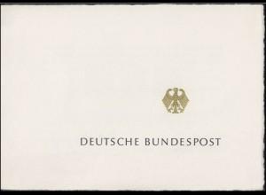 Ministersonderkarte A5q Frauenwahlrecht Block 5 Grußwort 4.7.1969 & ESSt 11.8.69