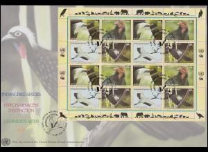 Surinam FAUNA 1983 - 12 Marken Schmetterlinge und Falter auf 3 Schmuck-FDC