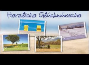 Klappkarte Herzliche Glückwünsche / Ferien in Deutschland, WEIDEN 13.6.2012